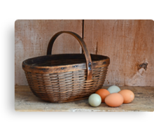My Grandma's Egg Basket Canvas Print
