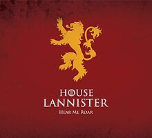 House Lannister Duvet Cover by Cian Breathnach