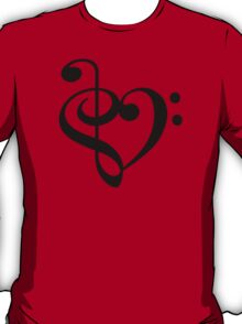 Treble-Bass heart T-Shirt