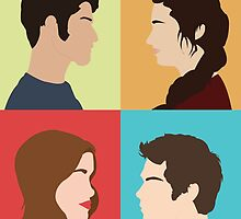 Scott, Allison, Lydia + Stiles by marthvader