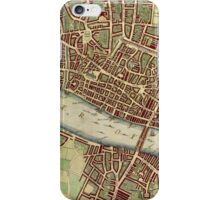 Vintage Map of London England (16th Century) iPhone Case/Skin