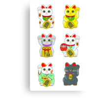 Lucky Cat / Maneki Neko Canvas Print
