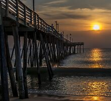 avalon pier sunrise by johnlackphoto