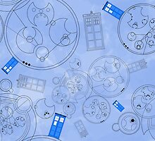 Police Box with Geometric Shapes by costumewrangler