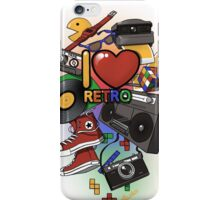 I Love Retro iPhone Case/Skin