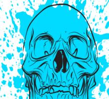 Skull: Cool Blue Sticker