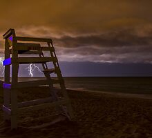 lightning storm in nags head, nc by johnlackphoto