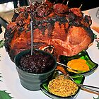 Christmas Ham With Nectarines and Trimmings by Margaret Stevens
