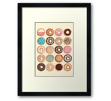 Nuts for Donuts Framed Print