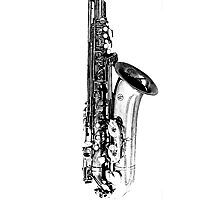 sax abstract Photographic Print
