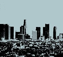 Los Angeles Skyline Stamp  by CorrieJacobs