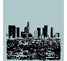Los Angeles Skyline Stamp  Photographic Print