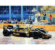 1986 Spanish GP F1 Senna vs Mansell  Photographic Print