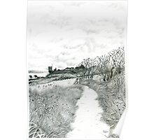 Coastal path at Crail in Fife [ East Coast of Scotland] [Pencil version] Poster