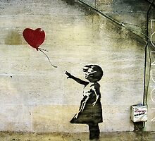 Banksy's Girl with a Red Balloon by Ludwig Wagner