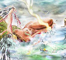 Buy the Seaside, Buy the Sea [Digital Fantasy Figure Illustration] by Grant Wilson