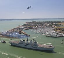HMS Illustrious final return by ChrisBalcombe