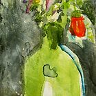 green vase... with flowers by donnamalone