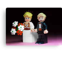 Lego Bride and Groom Canvas Print
