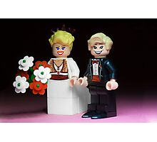 Lego Bride and Groom Photographic Print
