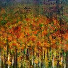 Abstract Autumn forest by Sabine Spiesser