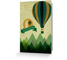 Hot Bear Ballooning Greeting Card
