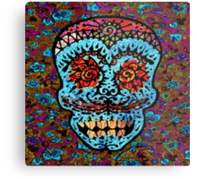 'Sweet Sugar Skull #3' Metal Print