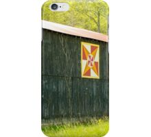 Kentucky Barn Quilt - July Summer Sky iPhone Case/Skin