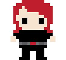 Black Widow Pixel Art Photographic Print