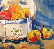 """Study of Paul Gaugin's """"Still Life with Peaches"""" by Susan E Jones"""
