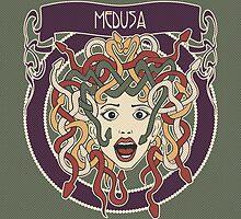 Foolish Medusa (green) by freshinkstain