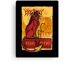 Le Chat Rouge Canvas Print