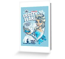 Frosty Flakes - Elsa Edition  Greeting Card