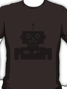Retro Robot Shape BLK T-Shirt