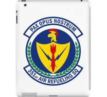 351st Air Refueling Squadron - Pax Opus Nostrum - Peace Is Our Profession iPad Case/Skin