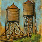 Water Towers 2 by Eva C. Crawford
