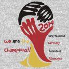 FIFA World Cup Champion Germany Deutschland Glückwunsch by JoAnnFineArt