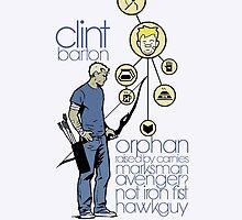 Clint 'Hawkeye' Barton by bullet-fuzz