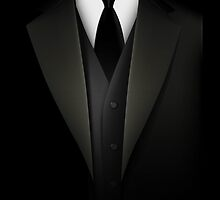 Men's Tuxedo Suit  Prints / iPad Case / iPhone 5 Case / iPhone 4 Case  / Samsung Galaxy Cases  / Pillow / Tote Bag / Duvet  by CroDesign