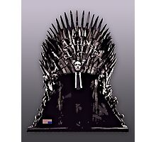 Underwood on the Iron Throne Photographic Print