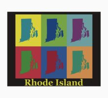 Colorful Rhode Island Pop Art Map Kids Clothes