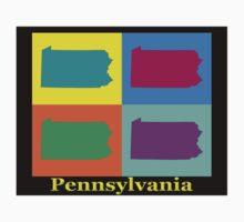Colorful Pennsylvania Pop Art Map Kids Clothes