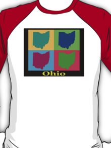 Colorful Ohio State Pop Art Map T-Shirt