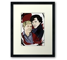 A detective and his blogger Framed Print