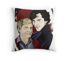 A detective and his blogger Throw Pillow