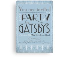Party at Gatsby's Invitation Canvas Print