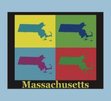 Colorful Massachusetts Pop Art Map T-Shirt