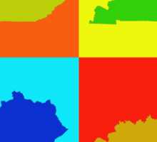 Colorful Kentucky Pop Art Map Sticker