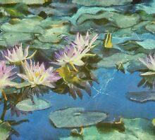 Water Lilies in Monet with Texture by Robert Armendariz