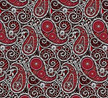 Pushie Paisley Pattern Chrome by chromedreaming